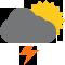 Durante la prima parte della giornata Nubi sparse con piogge moderate tendente nella seconda parte della giornata Nubi sparse con scrosci temporaleschi