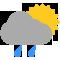 Durante la prima parte della giornata Nubi sparse con qualche pioggia tendente nella seconda parte della giornata Coperto