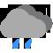 Tutto il giorno poco nuvoloso con qualche pioggia